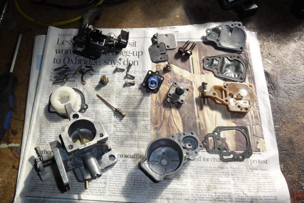 Mariner 15 2-stroke carb and fuel pump overhaul  - RIBnet Forums