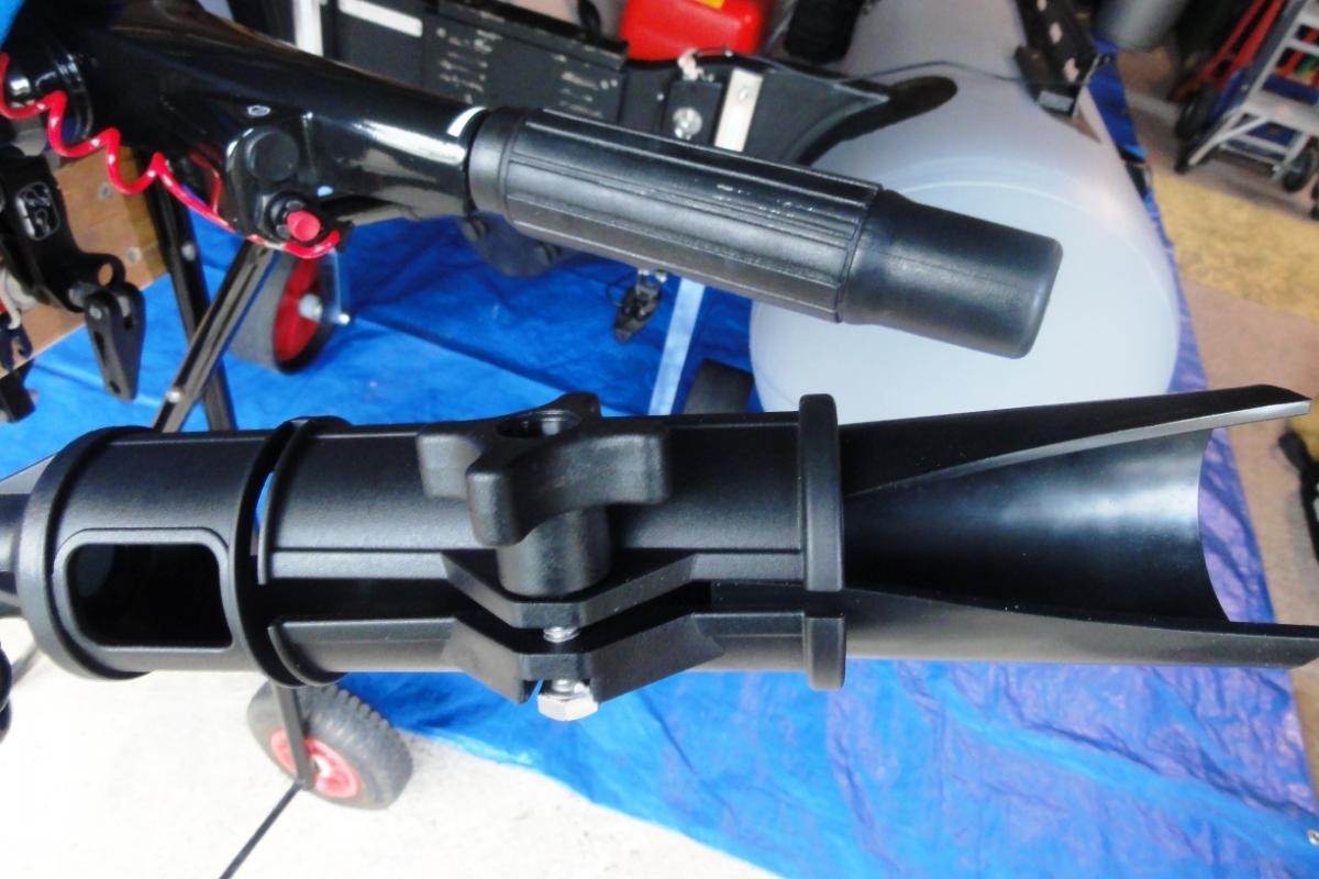 Tiller extension for chunky OB twistgrip (Suzuki DF20A