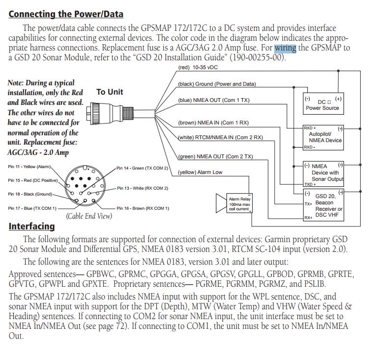 Garmin 172C <----nmea0183---> Icom M603 VHF - RIBnet Forums on