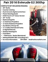 Click image for larger version  Name:Pair 2016 Evinrude G2 300.jpg Views:117 Size:148.3 KB ID:122886