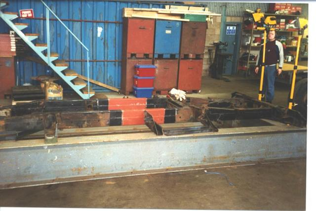 Click image for larger version  Name:Chassis stretch on jig (Small).jpg Views:117 Size:44.8 KB ID:45377