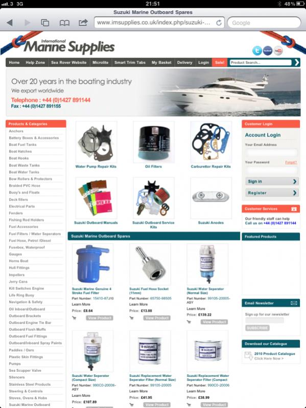 Where to buy Suzuki Outboard parts in the UK? - RIBnet Forums