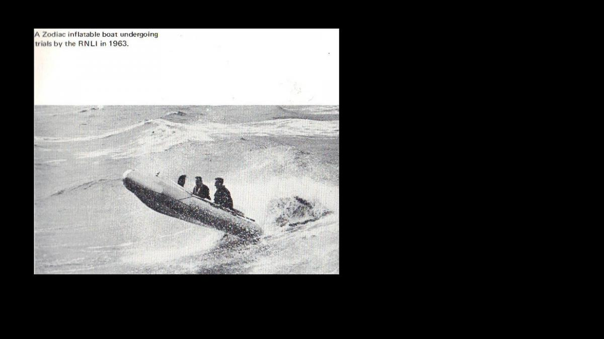 Click image for larger version  Name:1963,RNLI test a  Zodiac in 1963.jpg Views:193 Size:60.4 KB ID:79162