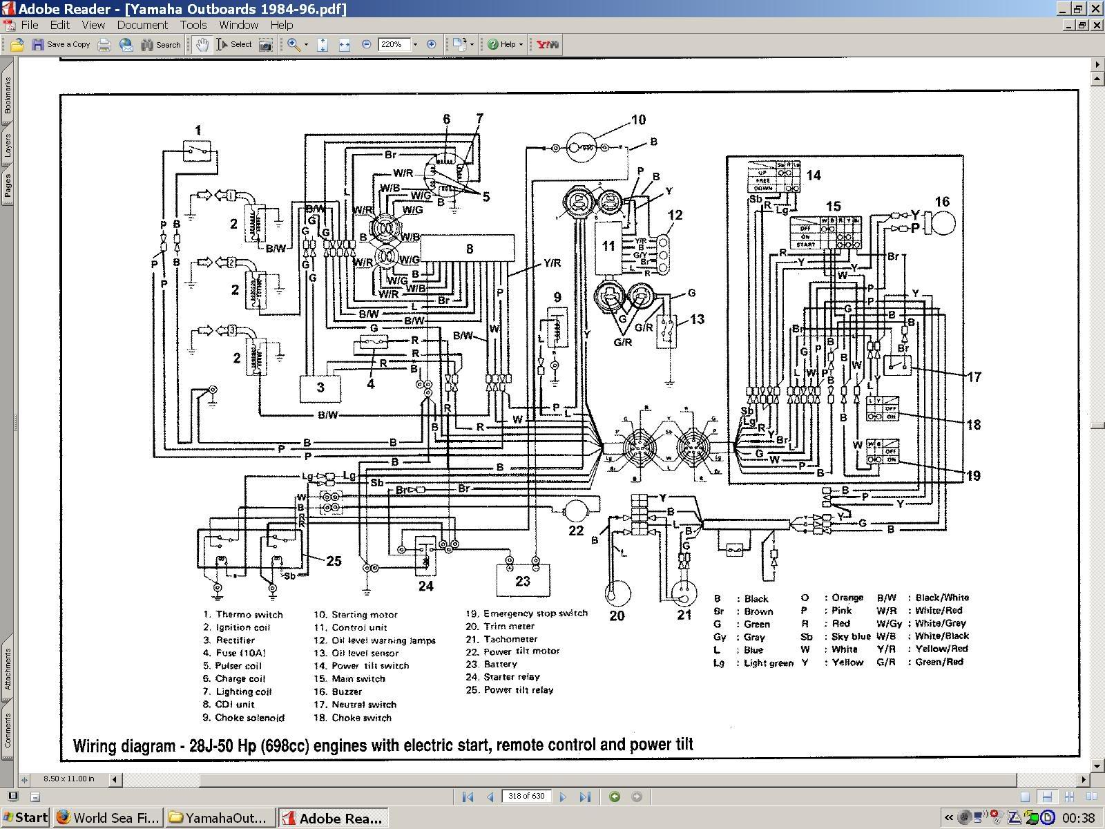 Wiring Diagram Manual For Yamaha 703 Control Ribnet Forums Onan Circuit