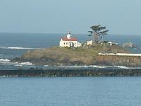 S6300776 Battery Point Lighthouse overlooking Crescent City Harbor.