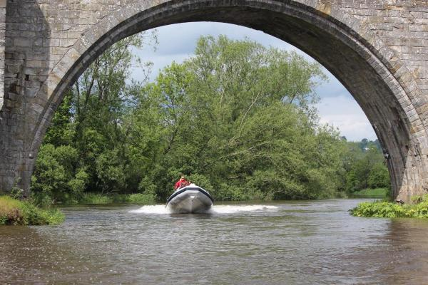 Going under the old Stirling Bridge