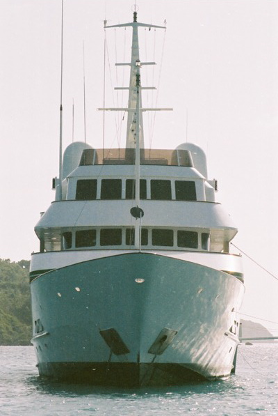 Nonstop is lying sunk just outside St Barths after Hurricane Hugo.
