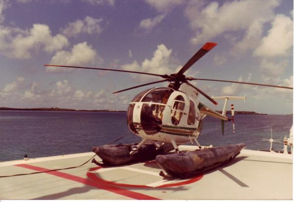 Nonstop's Hughes 500 Helicopter On Deck