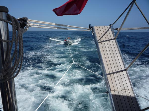 Towing Her From Menorca To Gib
