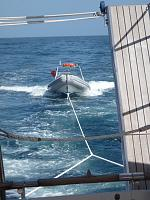 No Problem towing Innie at 10 Knots