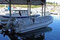 Zodiac Yachtline 2 DL 480 resting at Oak Harbor, Whidbey Island, Washington