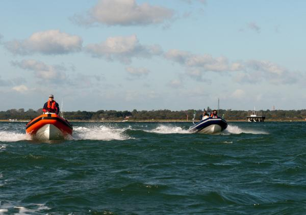 peterm and xs400 leaving Lymington