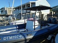 New t-top, console moved aft 70cm and new powder coating