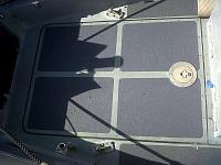 Forward of helm floor