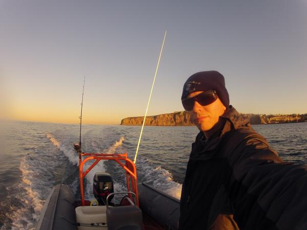 Early mornig fishing. Dana Point California