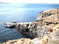 Helliar Holm lighthouse pier, Orkney