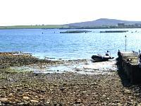 Fara pier - south side, Scapa Flow, Orkney