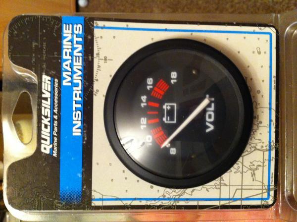 Quicksilver Marine Volt gauge