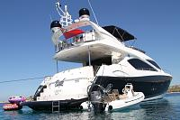 C-Fury Yacht as tender to a Sunseeker Yacht 75.