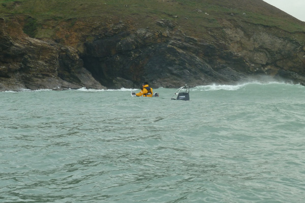 "Power Boat & RIB Magazine enjoying the coastline on the 'RIBs to the Limit"" round Cornwall event."