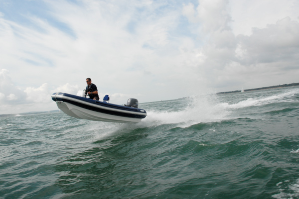 36knots off a wash in the Solent.