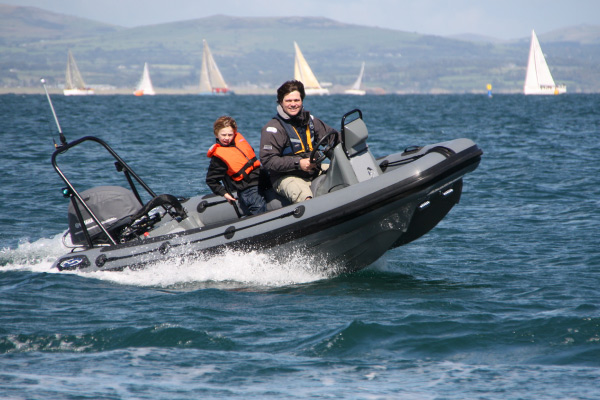 Enjoying a day out with my son Jacob last August off Abersoch.