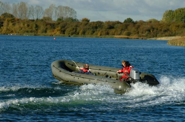 Avon CCRC First test run with Diesel burning 50hp outboard. 2007