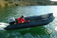 Zodiac F470 1st trials with the Mulitfuel 50hp Outboard. 2007