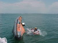 Probably around 2001 capsize trials for the RNLI 50hp. Testing the Fast post restart system. This engine is now in service with the RNLI on the IB1.