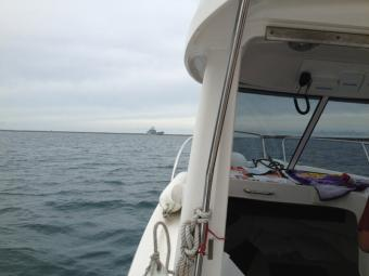 Better a rainy day on the water than a sunny day in the office ;0)