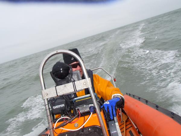 Enjoying the RIB on its first sea trial