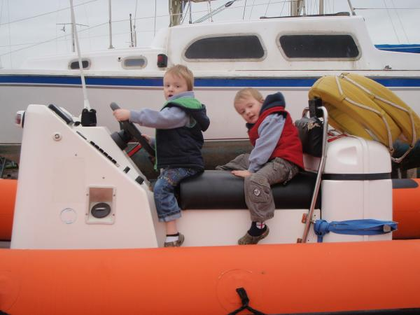 My boys (the boats on it's trailer)