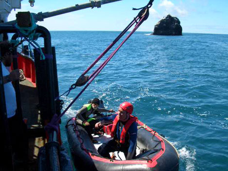 Coming alongside with climber Rockall expedition 2005.