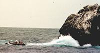 Climbing Rockall from a Greenpeace rib in 1998