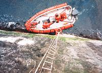 "Old Task Force boat ""Blossom"" resupplying Rockall occupation"