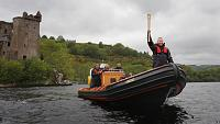 Taken while coxing the security boat during escort of the Olympic flame down the length of the loch on its round UK trip.