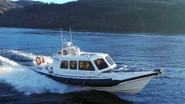 New boat on the Loch. 