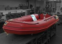 STOLEN - ZODIAC FUTURA dinghy as shown. Two patches on hull. One oblong about 30 x 10 cm. Other circular about 15cm diameter. Boat about 3m x 2m.