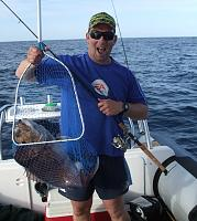 SeakingSam catches fine fish - Snapper at Hen & Chickens Islands, off Whangarei Harbour, New Zealand