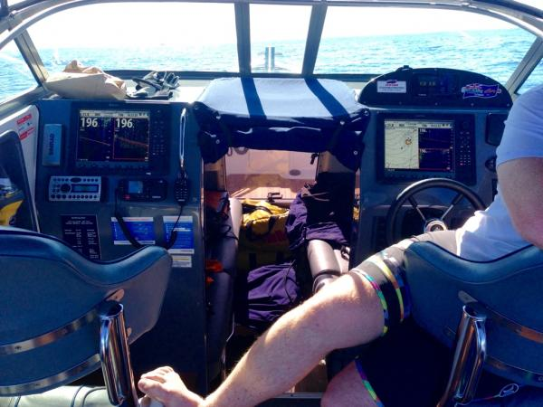 A working cockpit - Trolling 40 kms off the Coromandel Coast in NZ