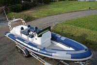 rib3   My osprey vipermax has a inboard nanni Diesel 3.2 ltr Turbo. 200HP