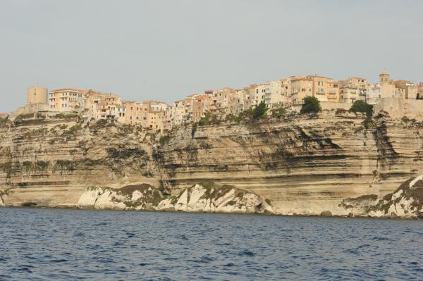 Cliff top housing in Bonifacio
