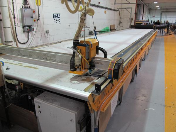 CNC 12 metre long cuttling table