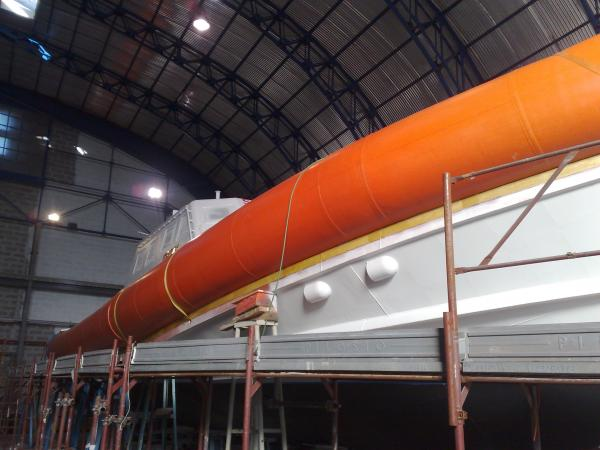 Italian SAR Coastguard boats with foam/air hybrid tubes