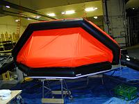 10 man training raft. Constructed in heavy duty materials for continual inflation/deflation for courses