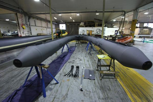 8 metre tube under construction