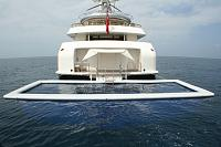 Sea Pool astern of yacht with 2.5 metre deep net
