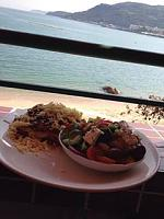 Lunch at the 'China Beach Club' ...run by an English couple... Moussaka & Greek Salad ...very nice!