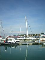 RIB in marina at Cowes