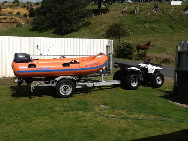 My boat with Yamaha Big Bear 4x4